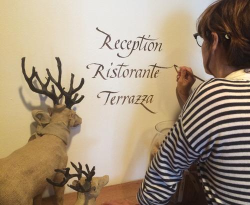 """Calligrafia per albergo """"Stella Alpina"""""""