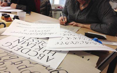 2019 . Corsi di calligrafia a Ponte Tresa e a Lugano