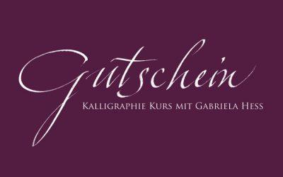 Gutschein Kalligraphie Kurs