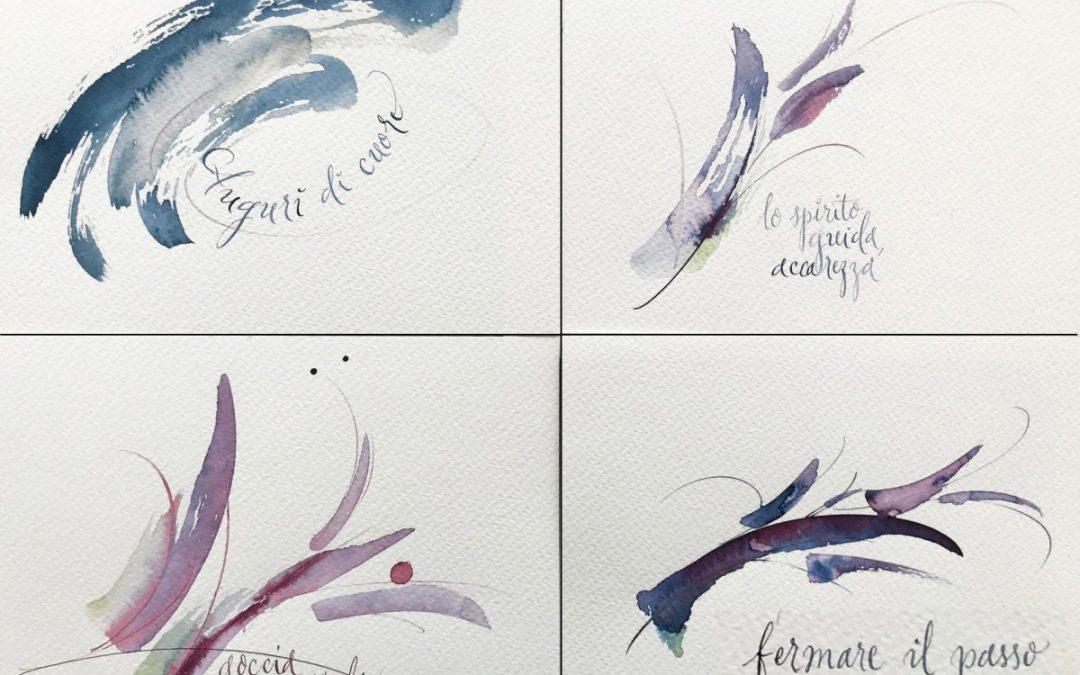 Floristische Kalligraphie