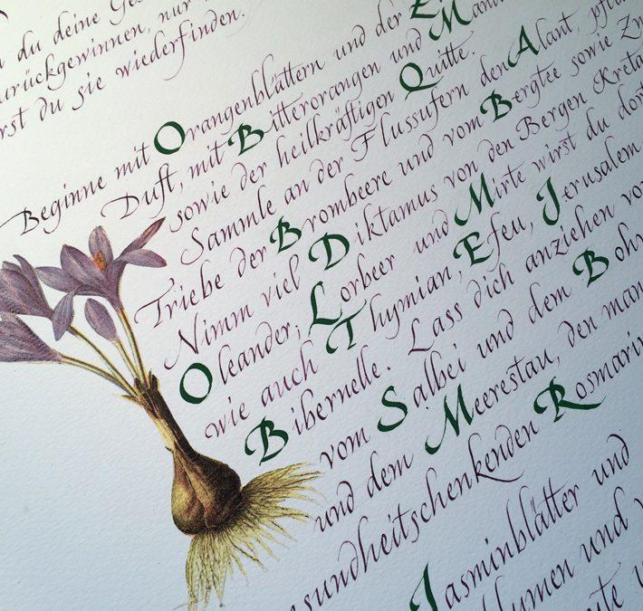 Kalligraphie Kurse Programm 2020