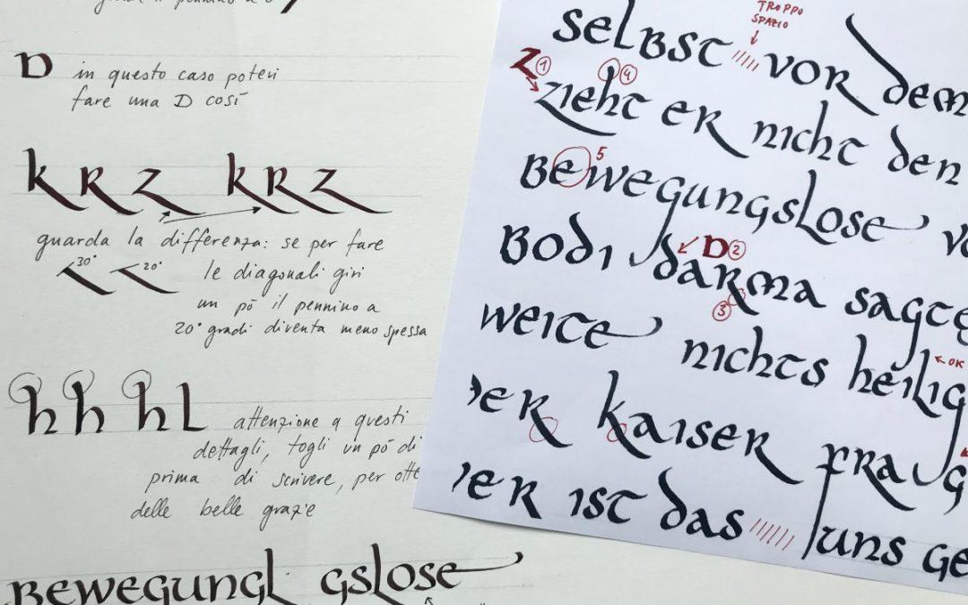 Corsi di calligrafia online #iorestoacasa