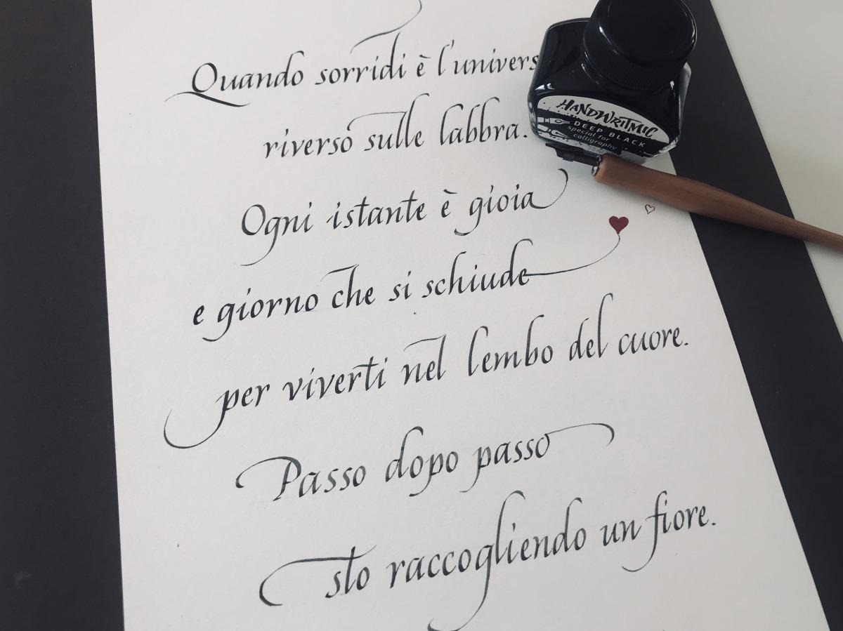 Autunno 2020 programma corsi di calligrafia a Lugano